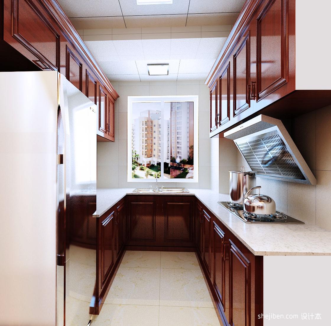 中式风格厨房装修效果图 (5/6)图片