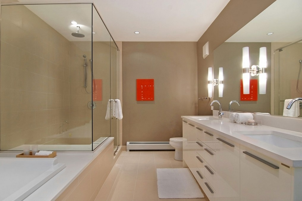 大面积卫生间玻璃隔断装修效果图装修效果图