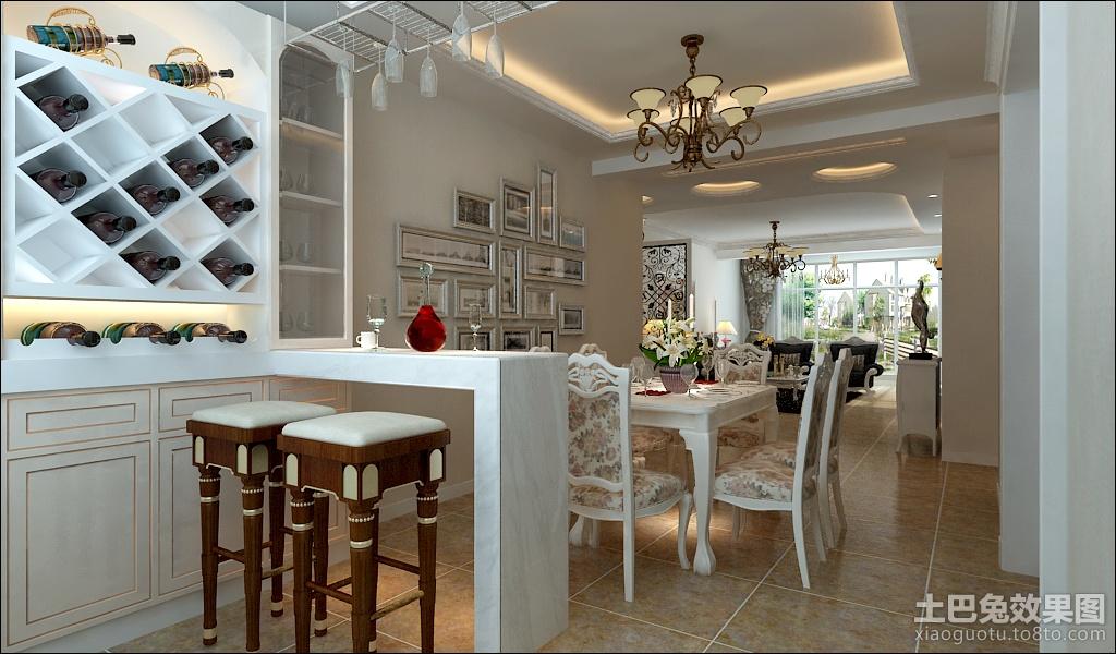 餐厅吧台装修效果图 欧式吧台装修图片高清图片