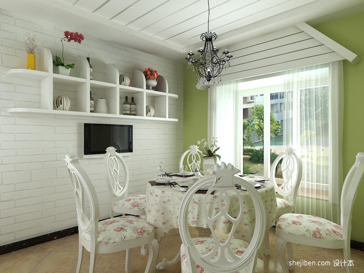 家居图库 小复式楼地中海风格客厅电视背景墙装修.