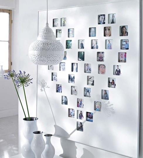 心形照片墙效果图装修效果图