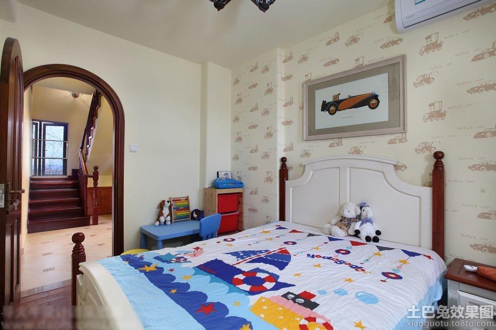 田园风格简单儿童房间家具床图片欣赏装修效果图
