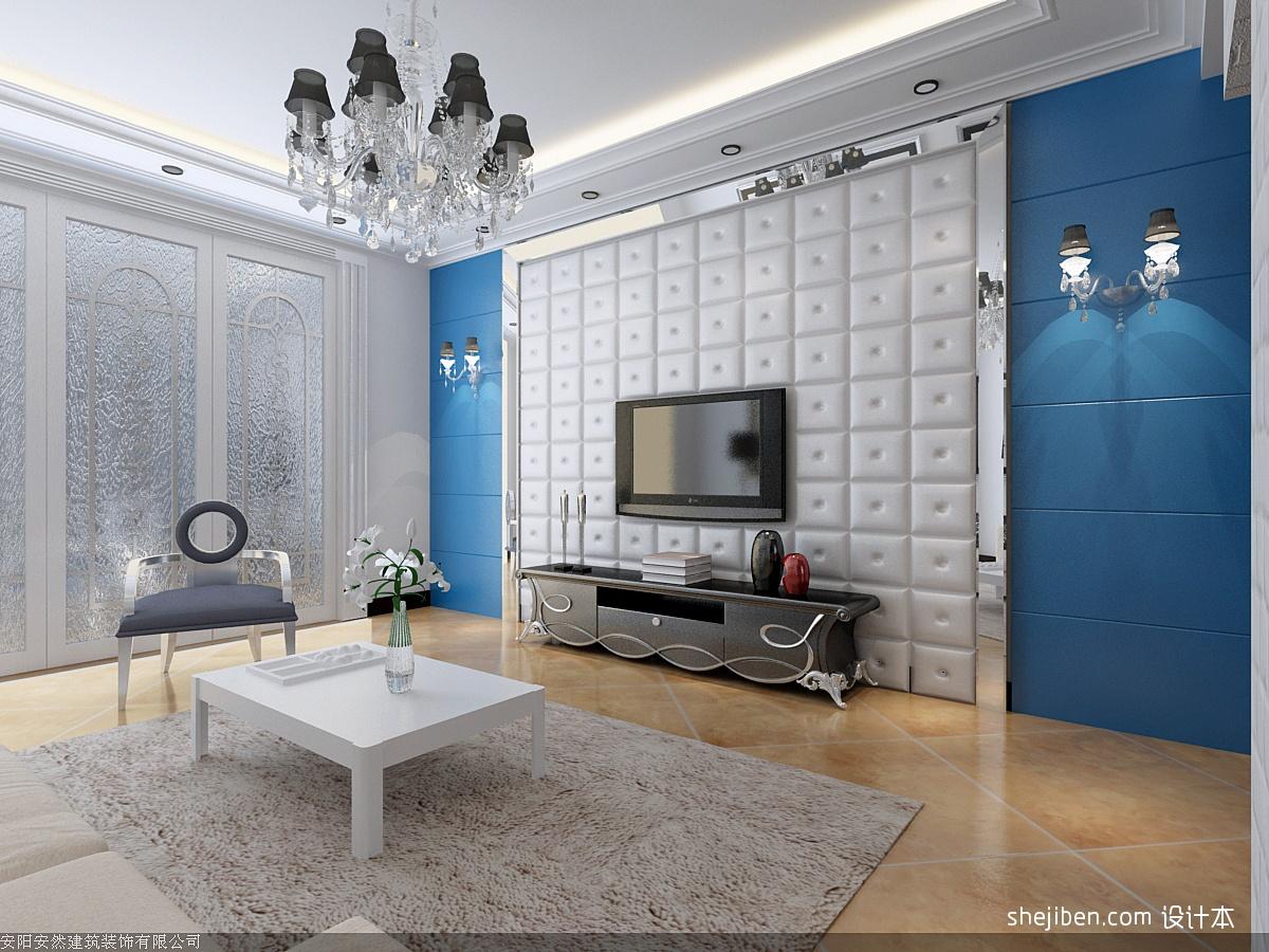 北欧客厅软包电视背景墙装修效果图 第5张 家居图库 九正家居网 -北欧高清图片