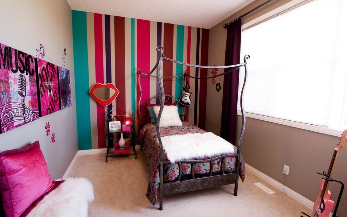 现代美式卧室装修壁纸大全装修效果图