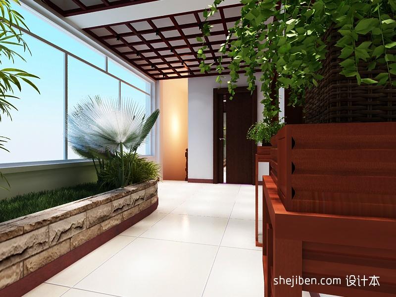 新中式阳台装修效果图 5 7高清图片