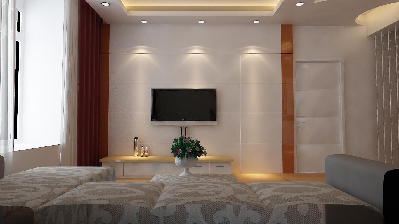 隐形门电视墙效果图 2012最新款电视墙装修效果图 第1张 家居图库 九