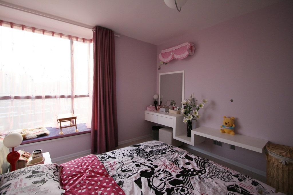 卧室飘窗设计 2013飘窗窗帘效果图 (6/8)