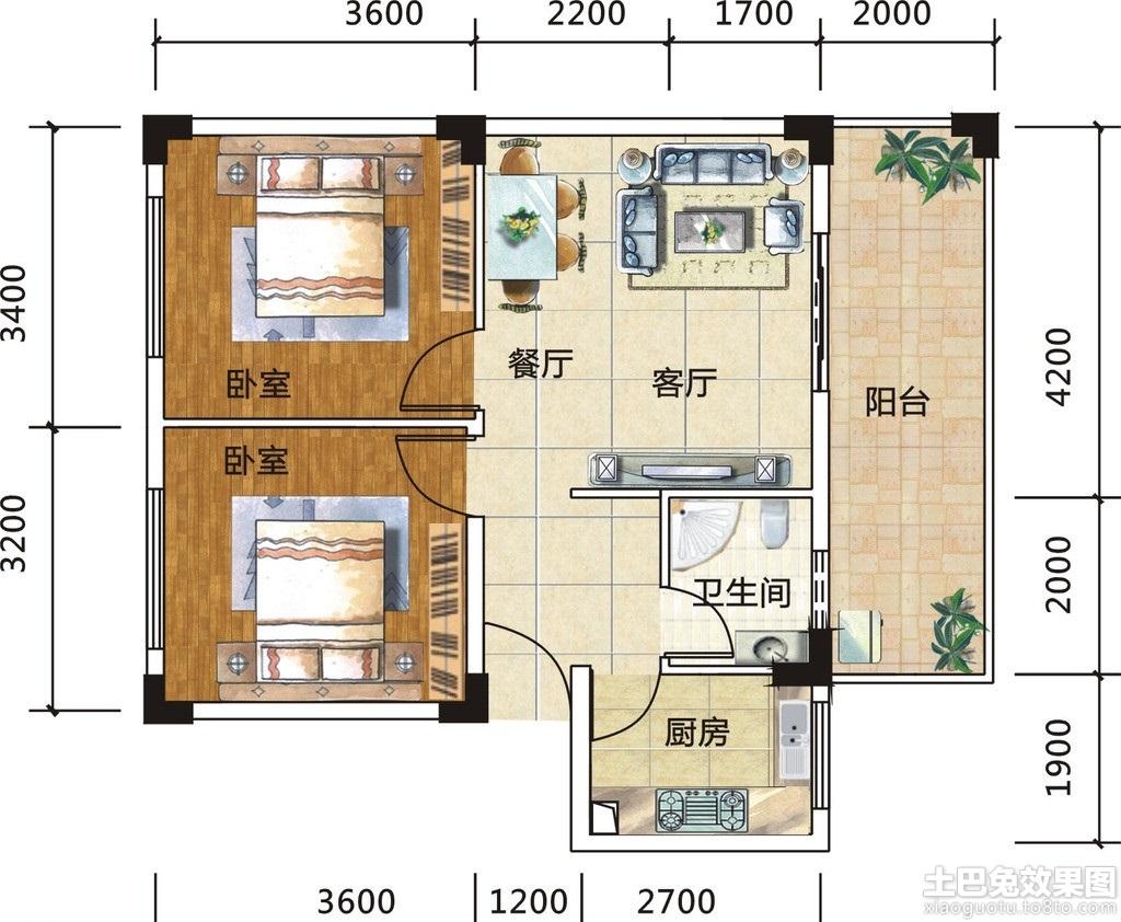 60平米房子设计图 小户型展示