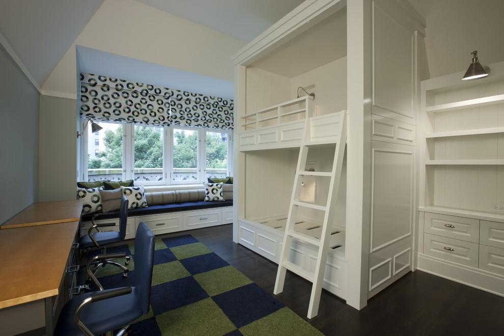 飘窗改书桌 双层卧室 飘窗 装修 效果 图装修 效果 图-飘窗改书桌效果图