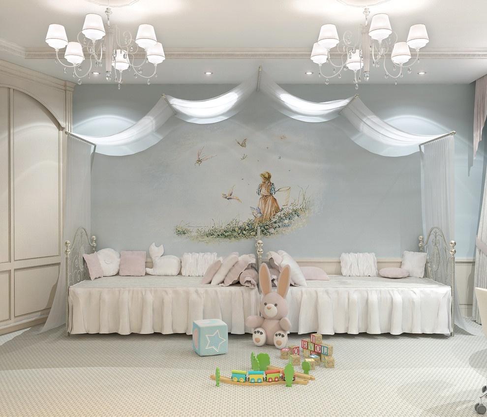 现代简约儿童卧室吊顶装修效果图 7 8