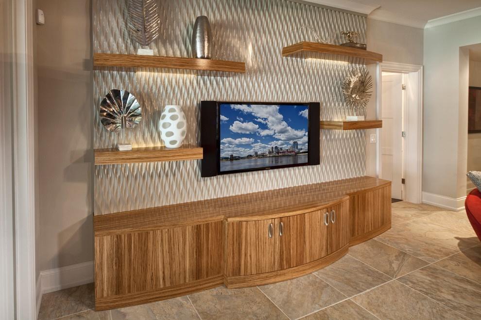 3d电视背景墙电视柜装修效果图 (2/9)图片