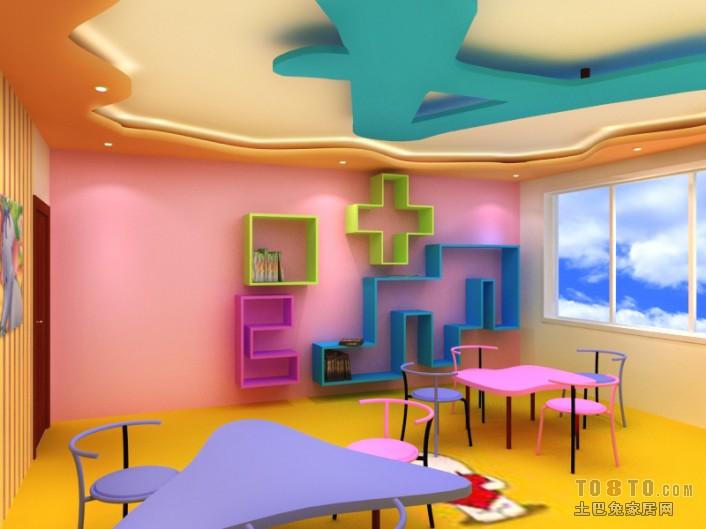 幼儿园教室墙面布置图片装修效果图 第1张 家居图库 九正家居网