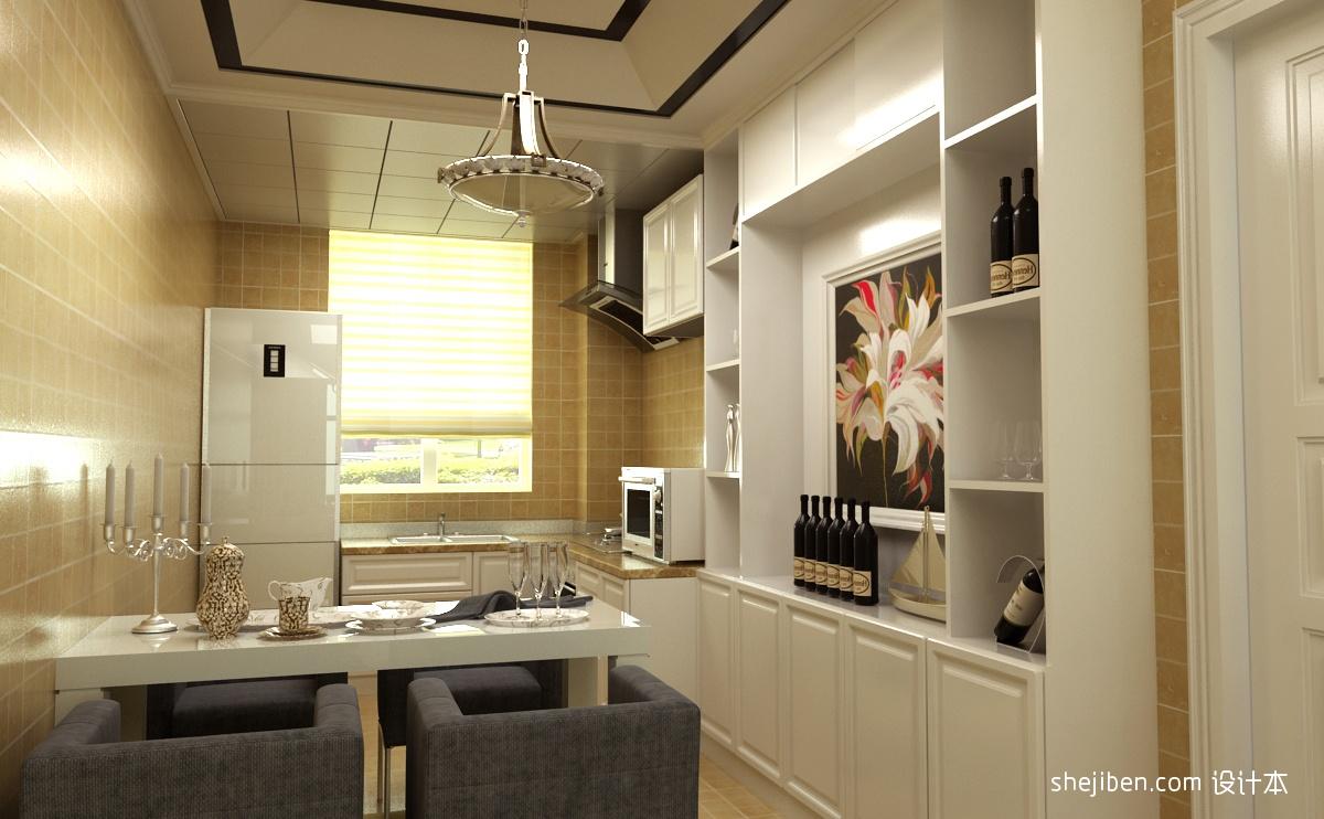 简单餐厅酒柜装修效果图装修效果图片欣赏下载