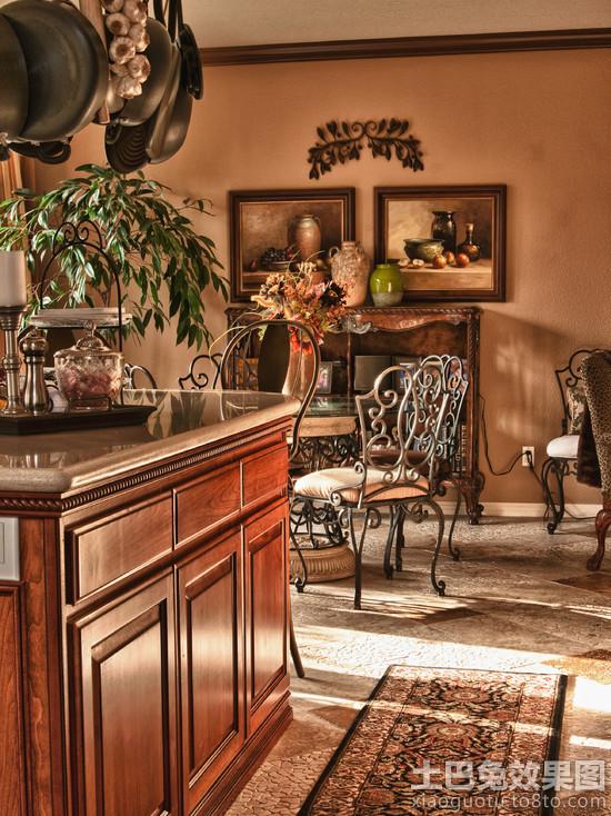 美式风格家庭装修铁艺家具图片装修效果图 第7张 家居图库 九正家居网高清图片