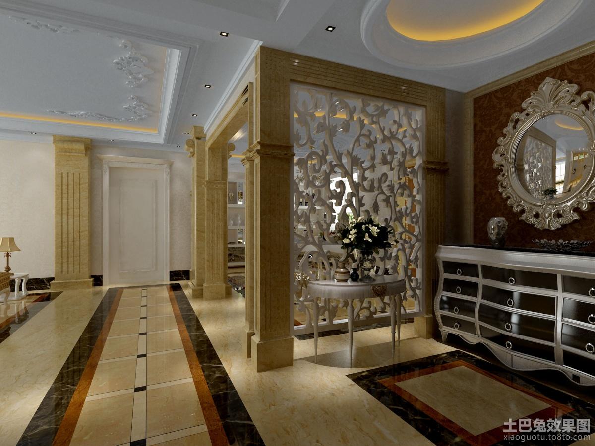 欧式雕花玄关隔断效果图 2 3高清图片