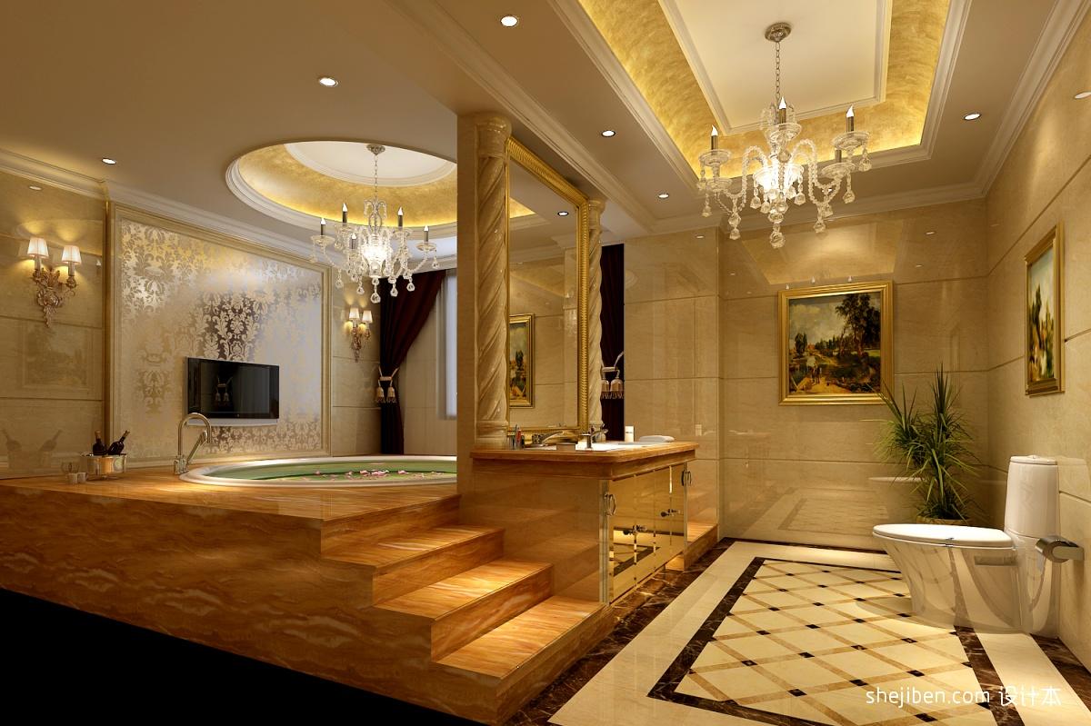 欧式风格卫生间设计装修效果图图片
