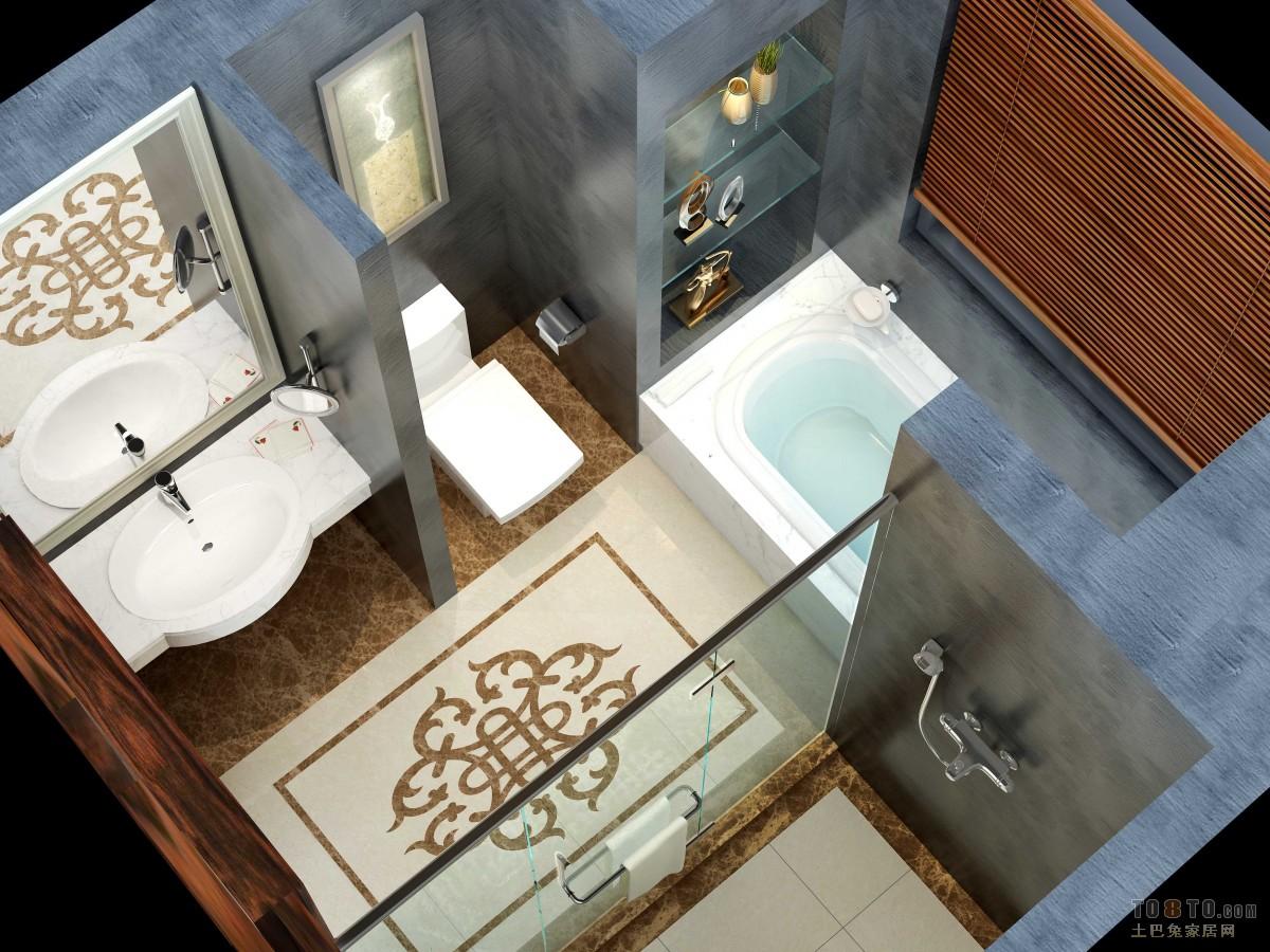 宾馆标准间卫生间装修效果图装修效果图 第3 高清图片