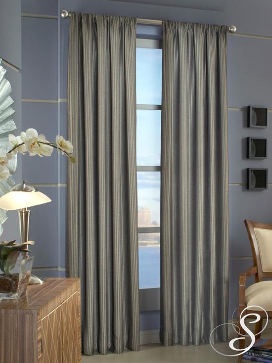 银灰色窗帘图片装修效果图