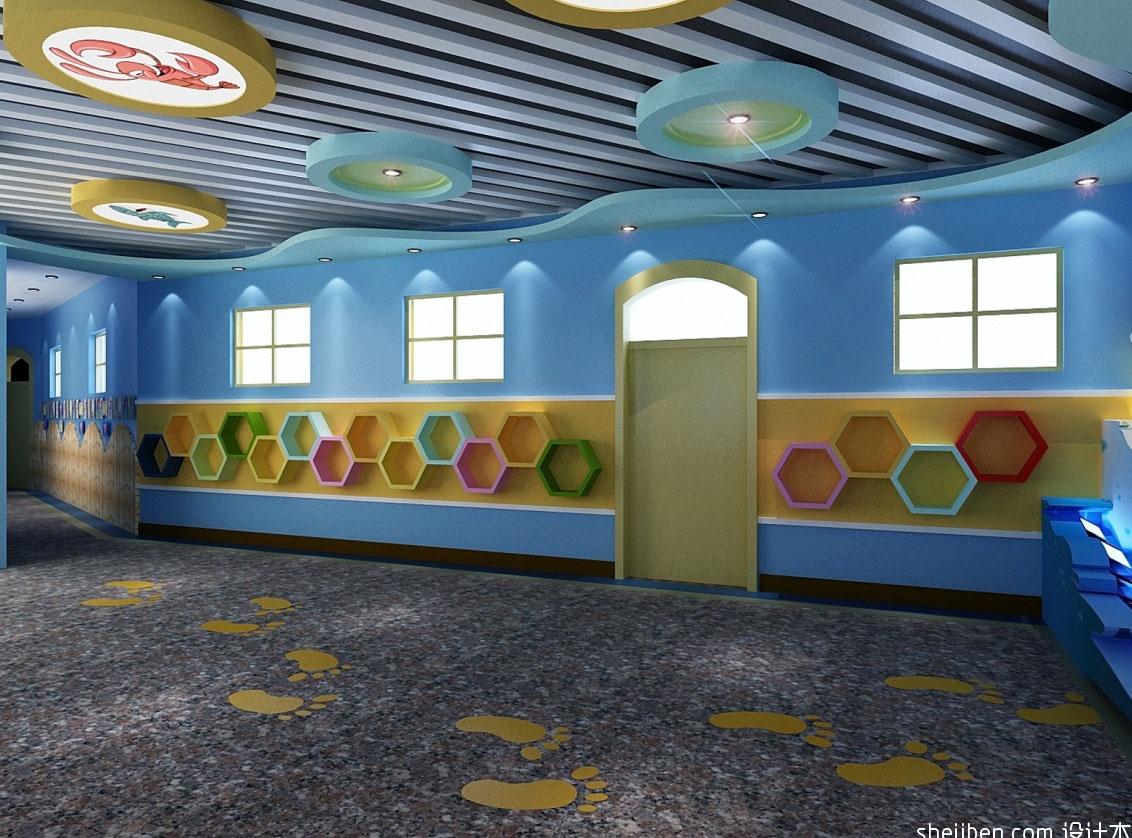 幼儿园教室墙面布置装修效果图幼儿园走廊墙面用矿泉水瓶
