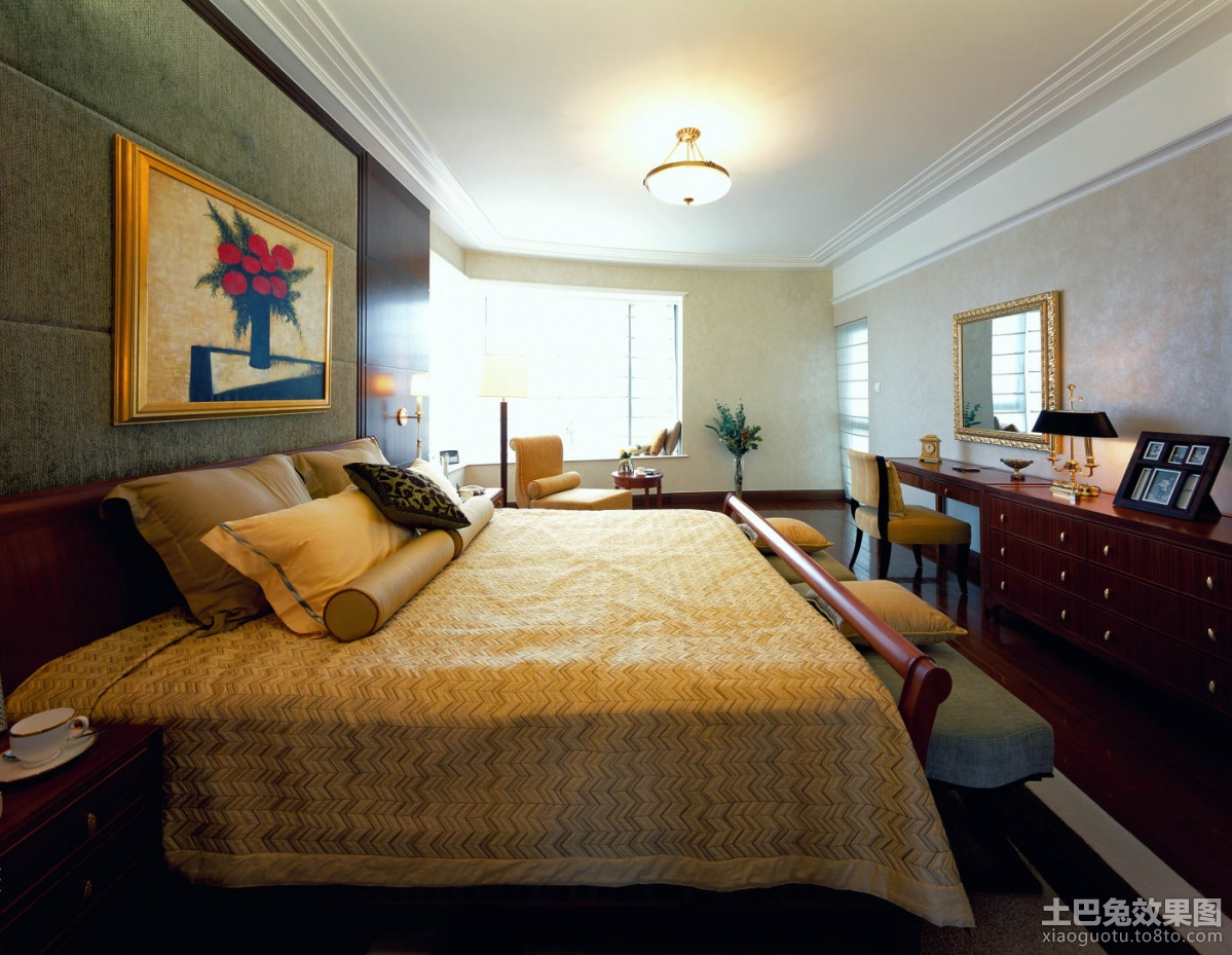 美式风格卧室装修图片 (3/7)图片