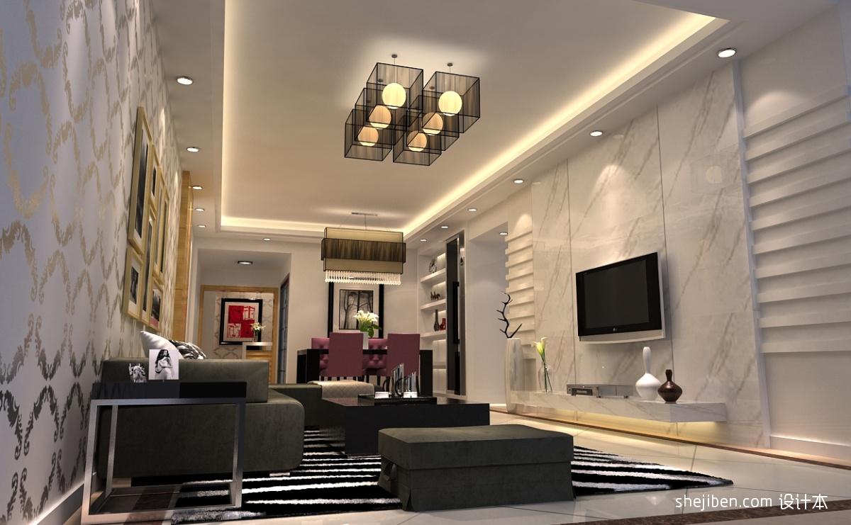现代大客厅电视背景墙装修效果图片装修效果图