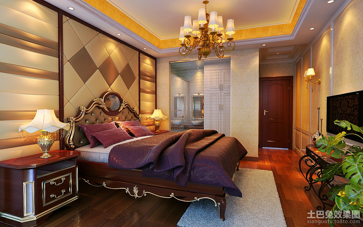 欧式主卧室效果图欣赏装修效果图图片