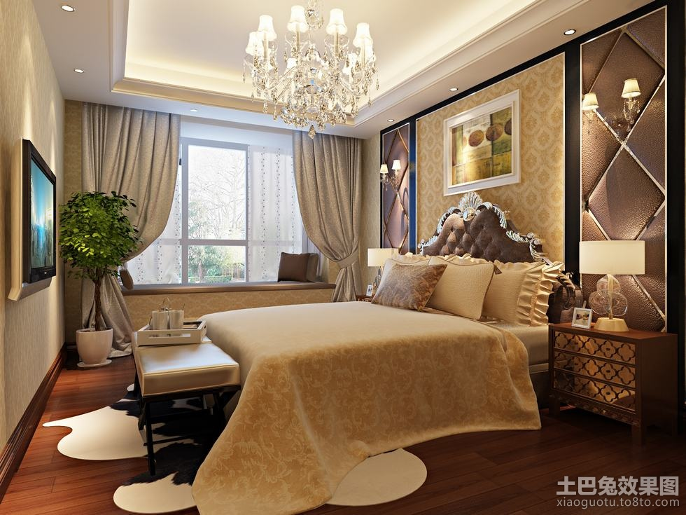 2013最新欧式卧室装修效果图片 (1/3)图片