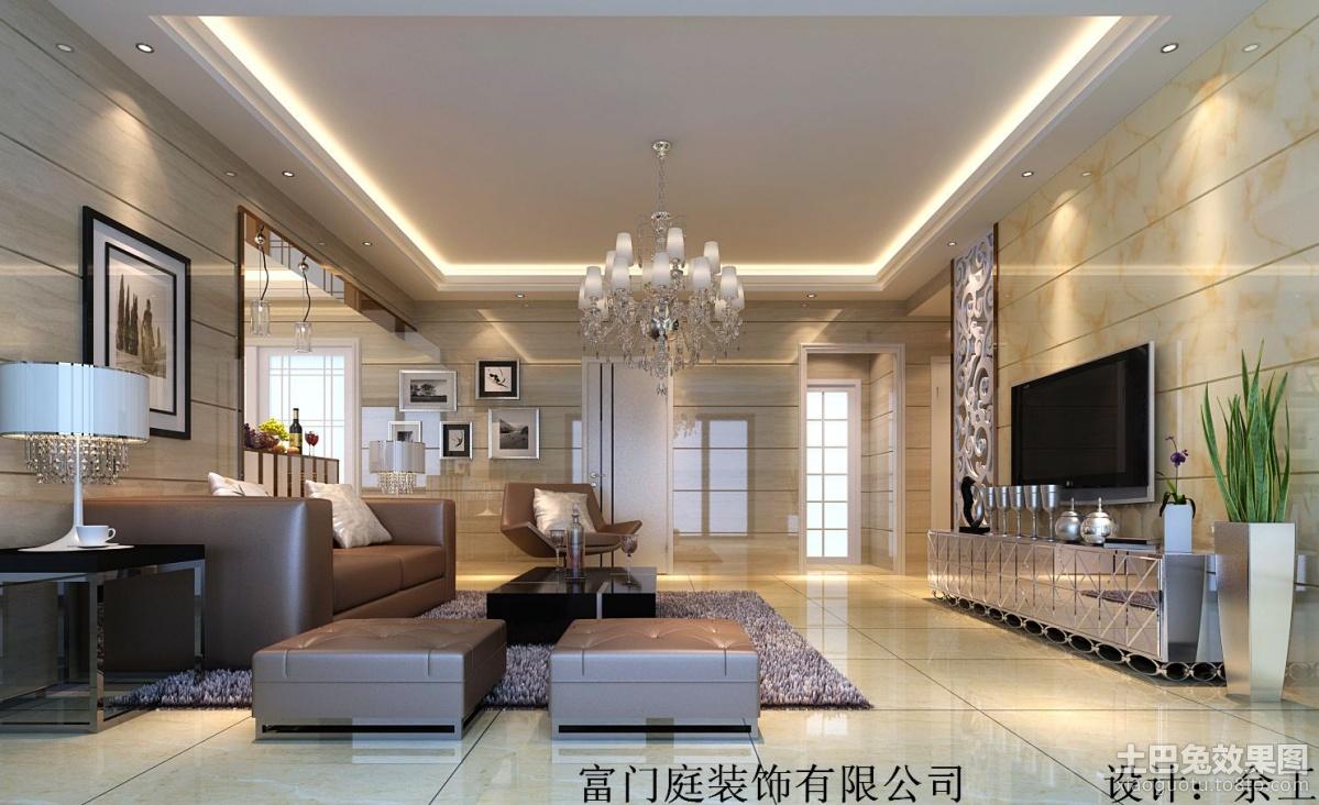 现代简约客厅吊顶灯装修效果图装修效果图