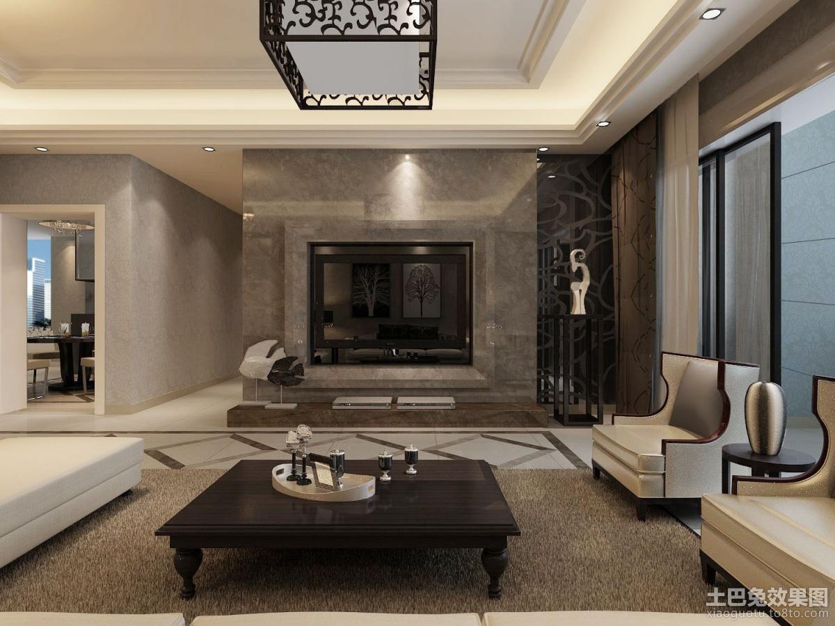 中式客厅电视背景墙效果图欣赏装修效果图