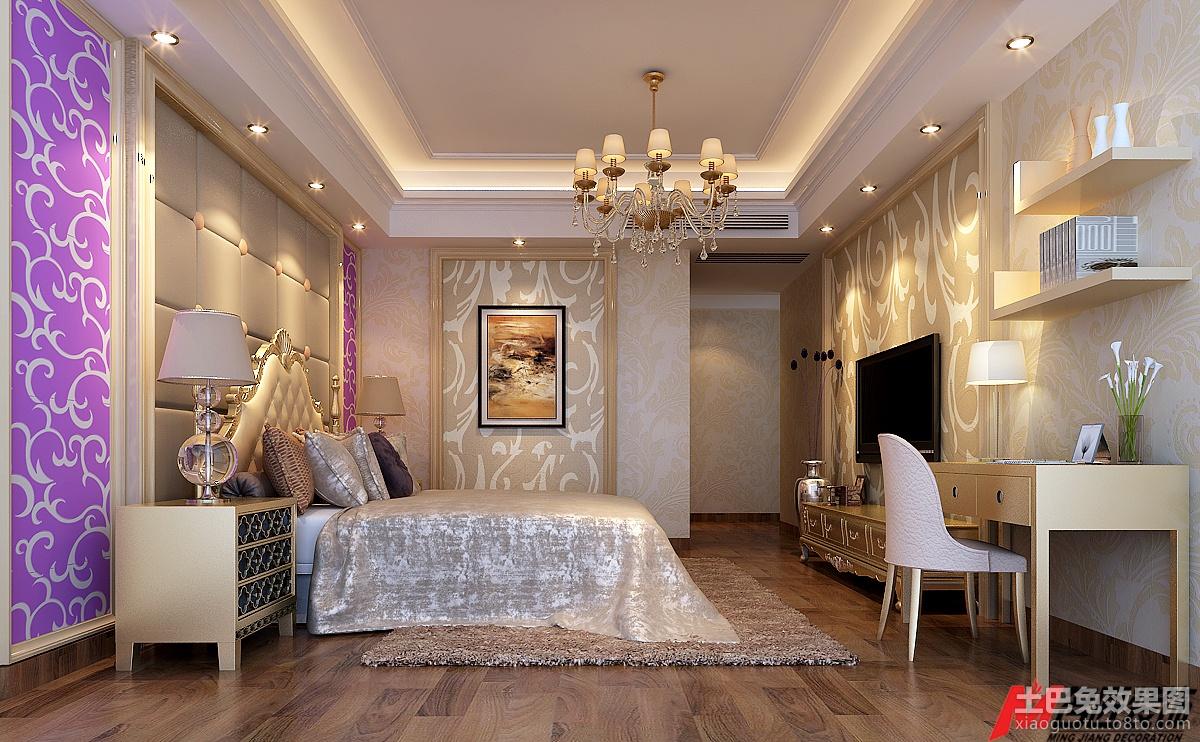 欧式风格主卧室效果图装修效果图图片