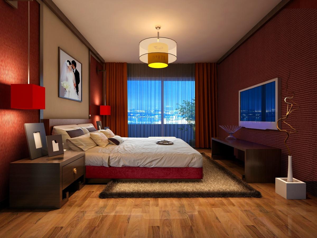 美式婚房卧室装修效果图装修效果图