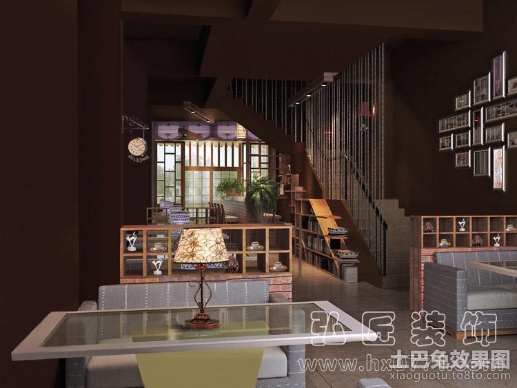 咖啡店复古装修效果图 (1/3)