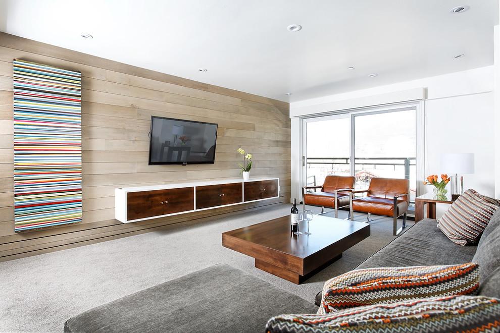 客厅实木电视背景墙装修图片装修效果图