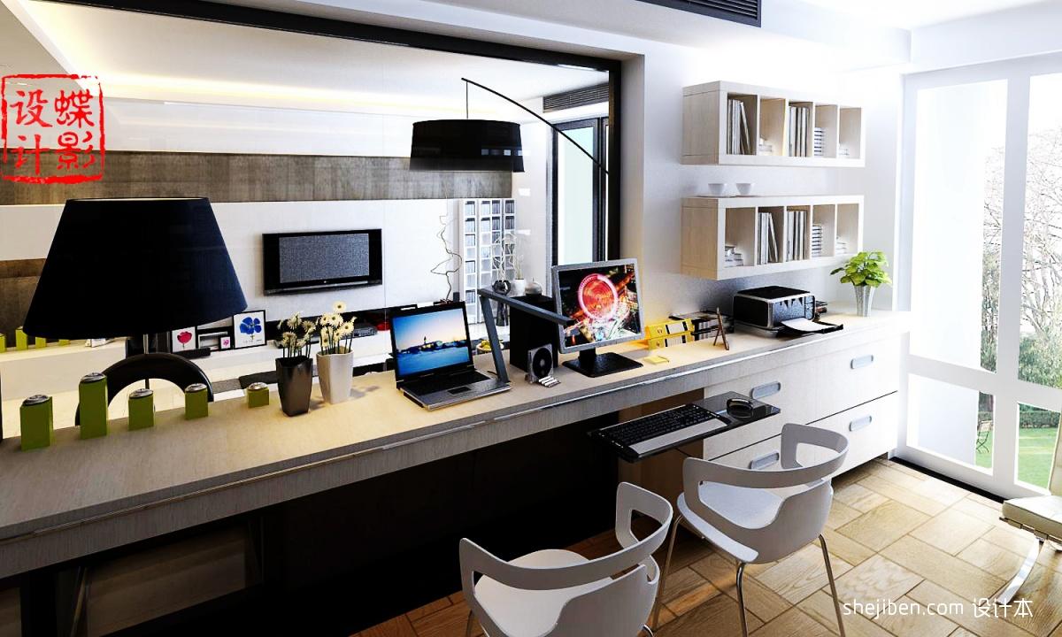 100平米三室一厅书房装修效果图装修效果图