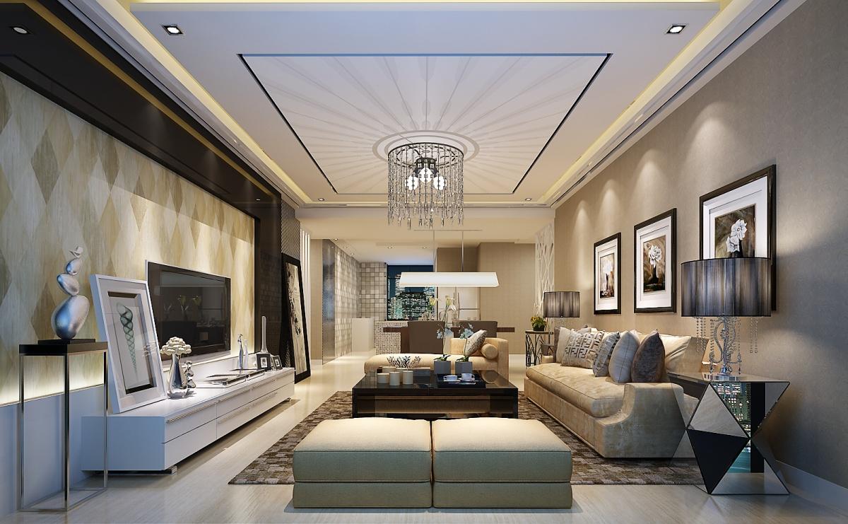 现代风格客厅吊顶设计图装修效果图_第2张 - 家居图库图片