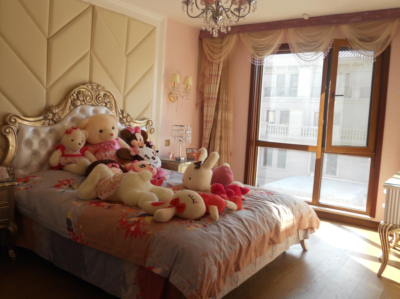 欧式女孩卧室窗帘设计效果图装修效果图图片