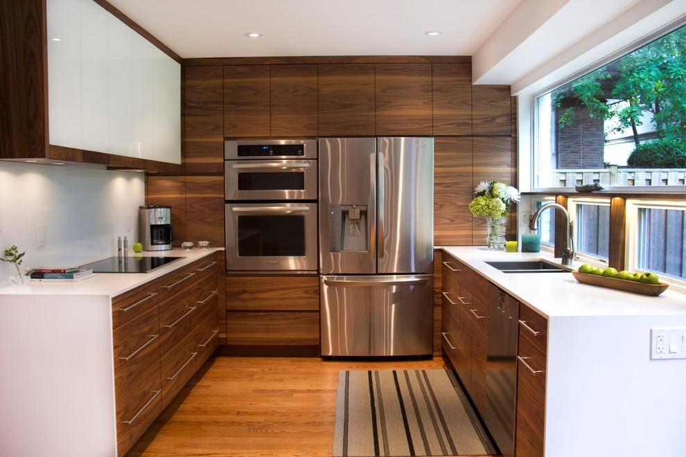 美式现代u型厨房效果图装修效果图