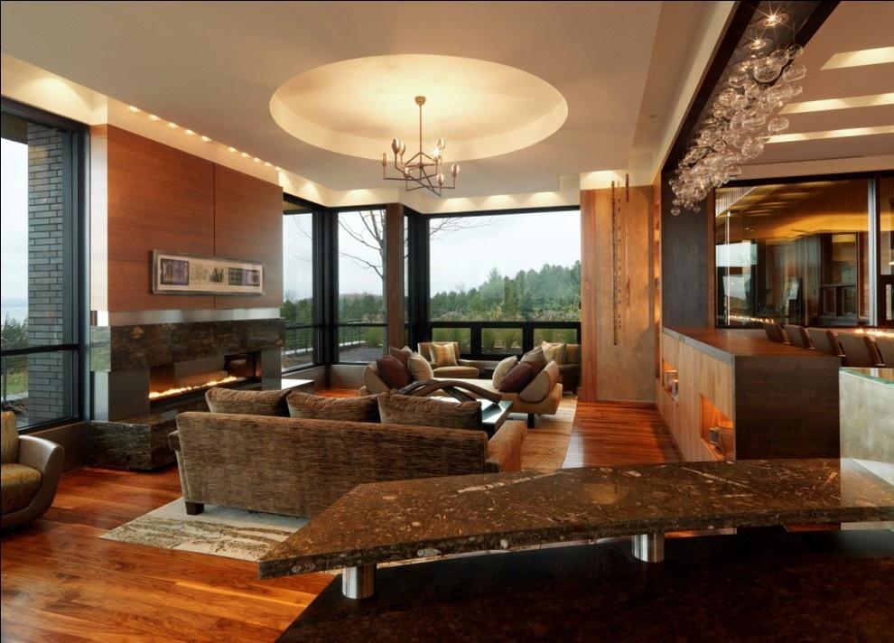 客厅圆形吊顶装修效果图片装修效果图
