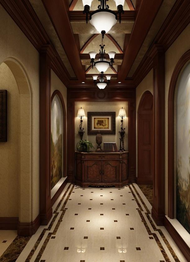 美式别墅过道吊顶装修效果图 2 4高清图片