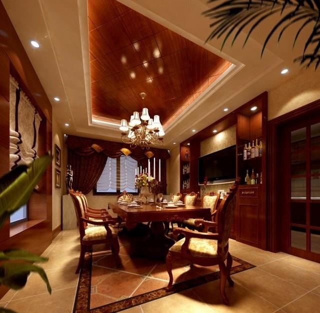 新中式风格餐厅吊顶图片 (1/3)图片