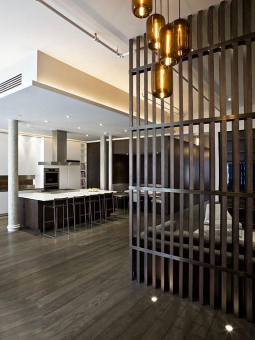 现代木条屏风隔断效果图装修效果图 第3张 家居图库 九正家居网