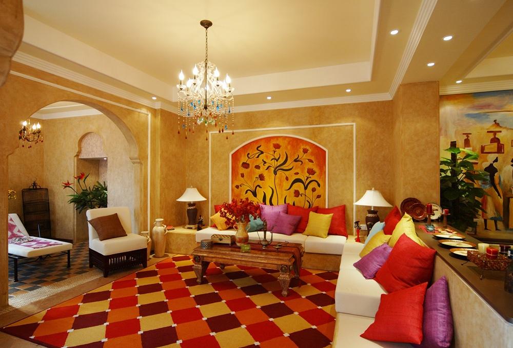 客厅地板砖拼花装饰效果图装修效果图