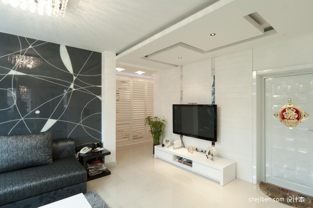 现代电视背景墙装修设计图装修效果图
