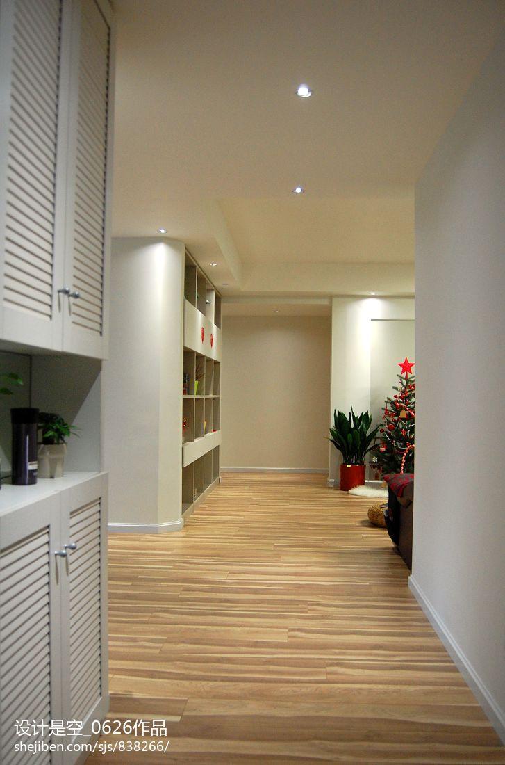 现代家装过道木地板设计效果图 (9/10)