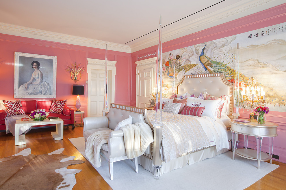 欧式主卧室床头背景墙效果图装修效果图图片