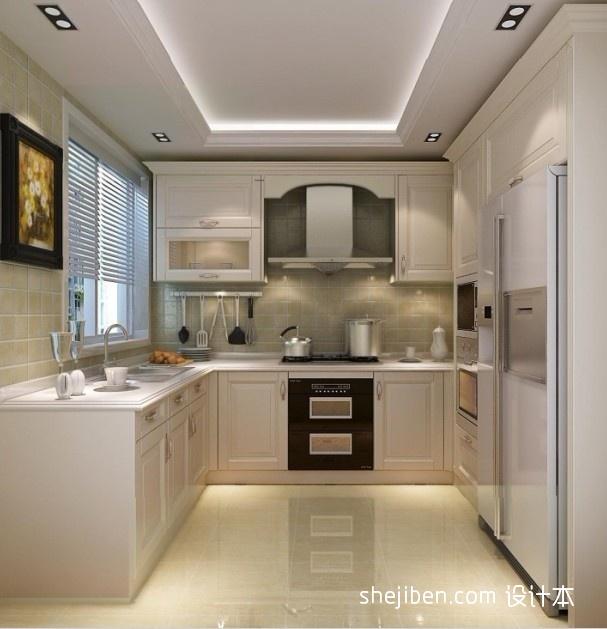欧式厨房白色整体橱柜效果图装修效果图
