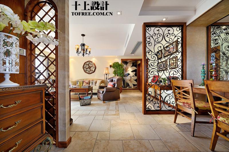 客厅隔断装修效果图-餐厅装饰屏风