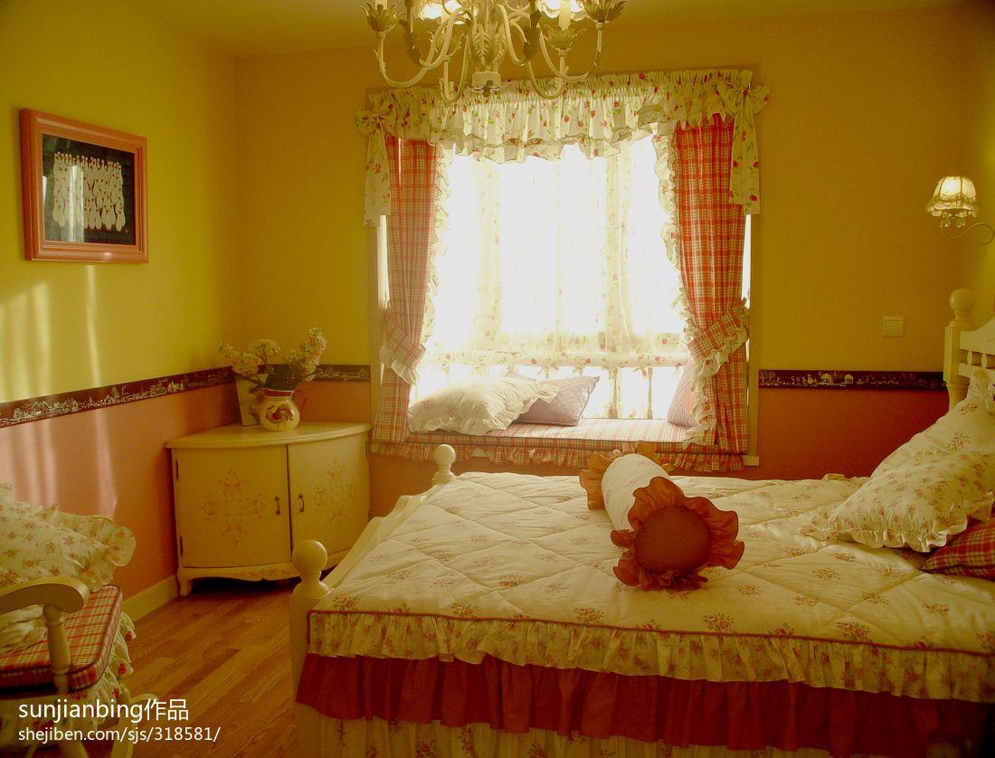欧式田园风格女生卧室图片大全