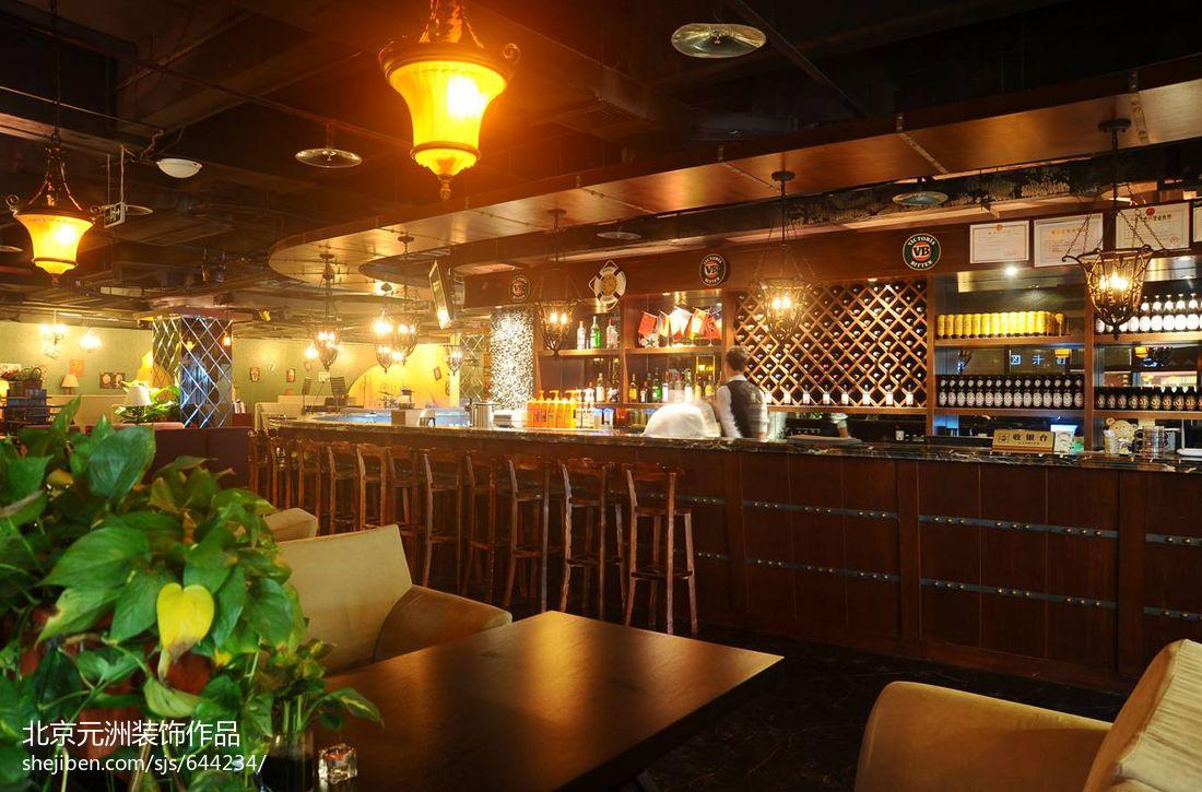 酒吧设计效果图_怀旧酒吧设计效果图_复古酒吧装修效果图