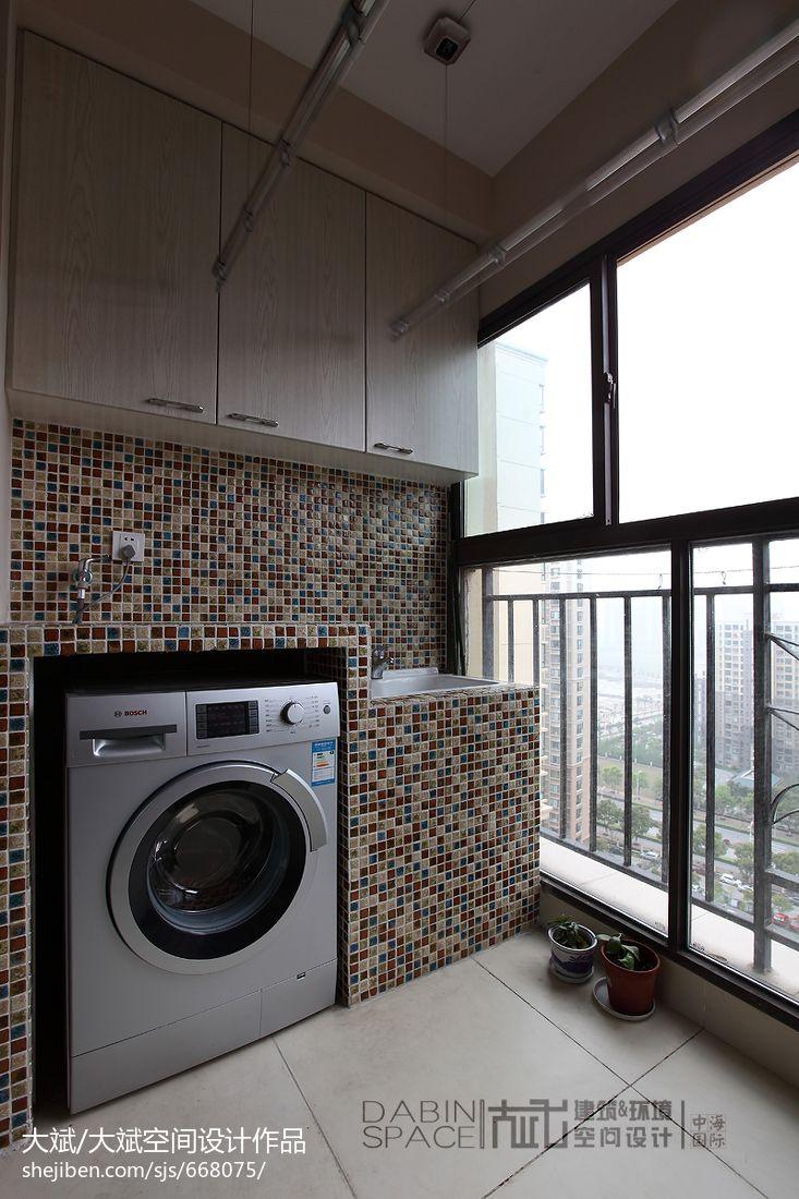 阳台洗衣房设计效果图装修效果图 第25张 家居图库 九正家居网 -阳台高清图片